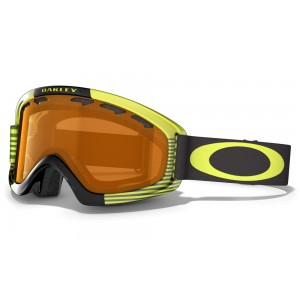 Gogle Oakley O2 XS Sw Block Stripes Neon Yellow Szyba Persimmon