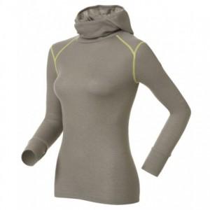 Odlo Shirt L/S With Facemask Warm Cinder Melange-Limeade