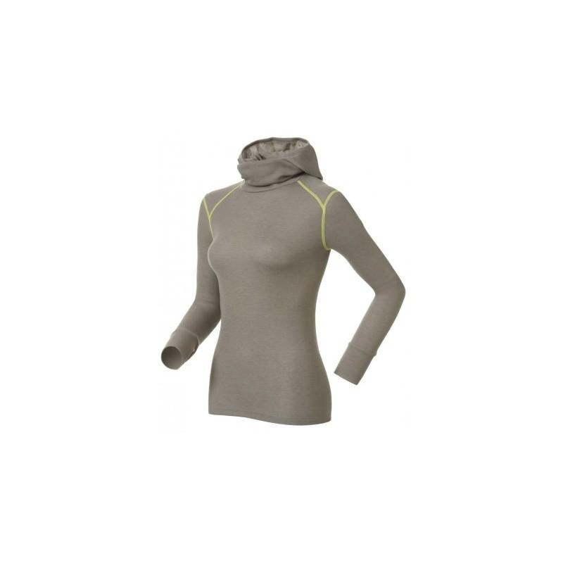 Koszulka Odlo Shirt L/S With Facemask Warm Cinder Melange-Limeade