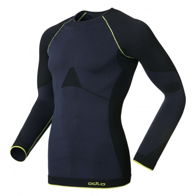 Odlo Shirt L/S Crew Neck Evolution Warm Greentec Navy/Black 13/14