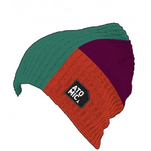 Atomic Color Flag Beanie Red/Purple/Green
