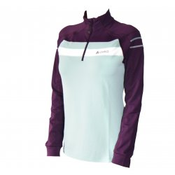 Odlo Stand-Up Collar 1/2 Zip Cari Bay-Plum Purple-Snow White