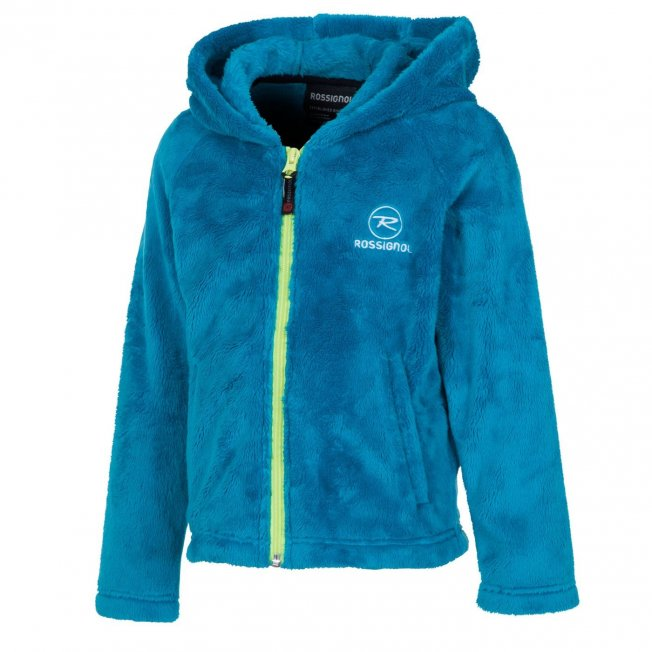 Rossignol Kid Hairy Fleece Hooded Cyan 14/15
