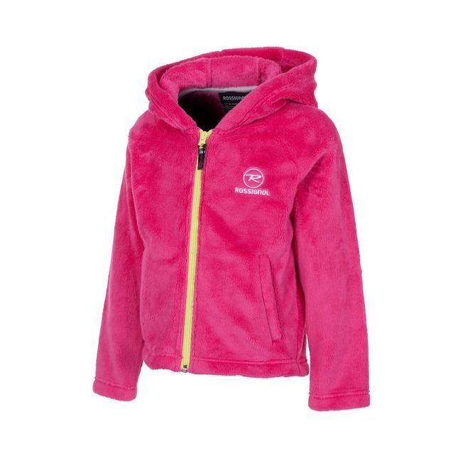 Rossignol Kid Hairy Fleece Hooded Berry Pink 14/15