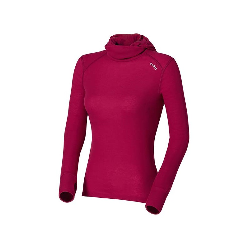 Odlo Shirt L/S With Facemask Warm Cerise 14/15