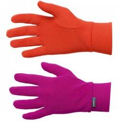 Odlo Gloves Warm Kids Violet Pink - Spicy Orange 14/15