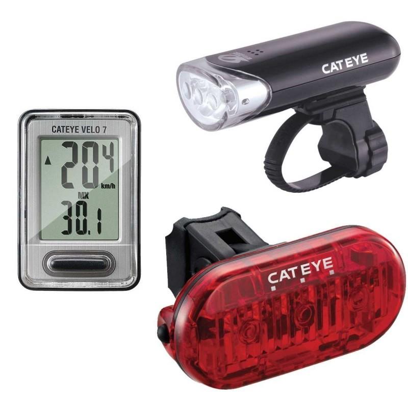 Einstellen Cateye Hl-El135 + Velo 7 + Omni 3