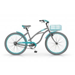 MBM Aloha 26 St Coaster Brake 1speed GRAY/TURQUOISE