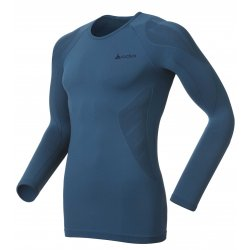 Odlo Tech. Shirt L/S Crew Neck Evolution Light Blue Sapphire/Black 13/14
