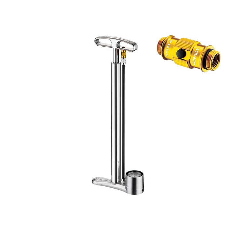 Lezyne Travel Floor Drive ABS 160psi Silber