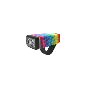 Knog Pop II front rainbow