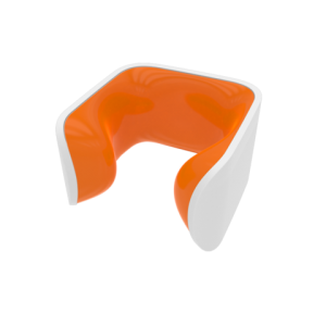 Clug Hybrid - White Outer / Orange Inner