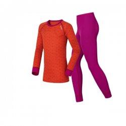 Odlo Warm Kids Violet Pink - Spicy Orange 14/15