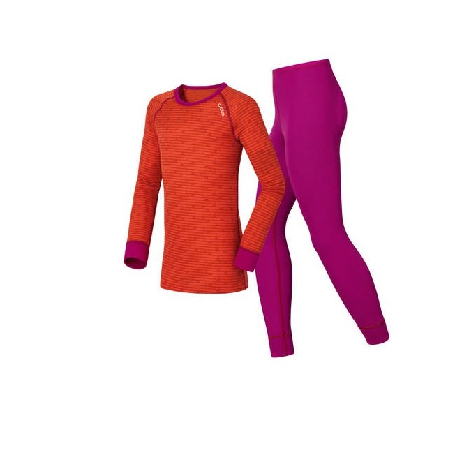 Odlo Warm Kids Violet Pink - Spicy Orange 15/16