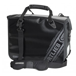 Ortlieb Office Bag Ql2.1 L Black'n White Line, Black 21l