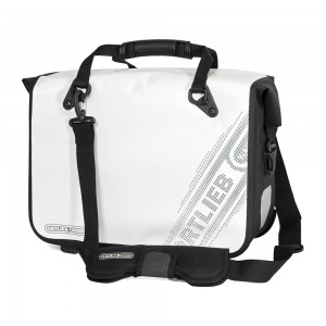Ortlieb Office Bag Ql3 L Black'n White Line, White 21l