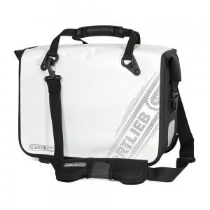 Ortlieb Office Bag Ql3 L Black'n White Line, White 21l