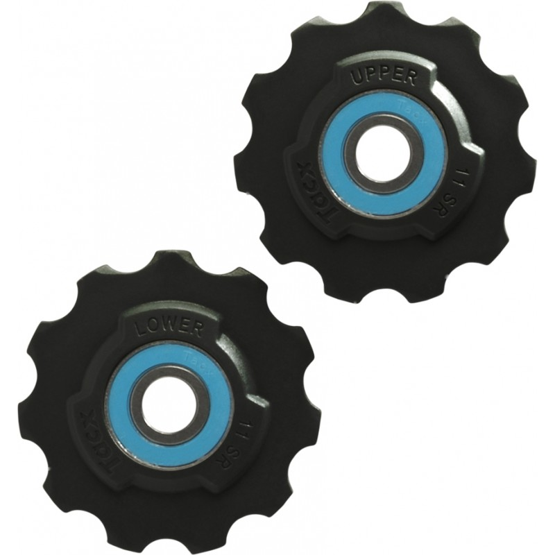 Tacx Jockey Wheels Teflon Wheel Sram Race, Red, Force, Rival