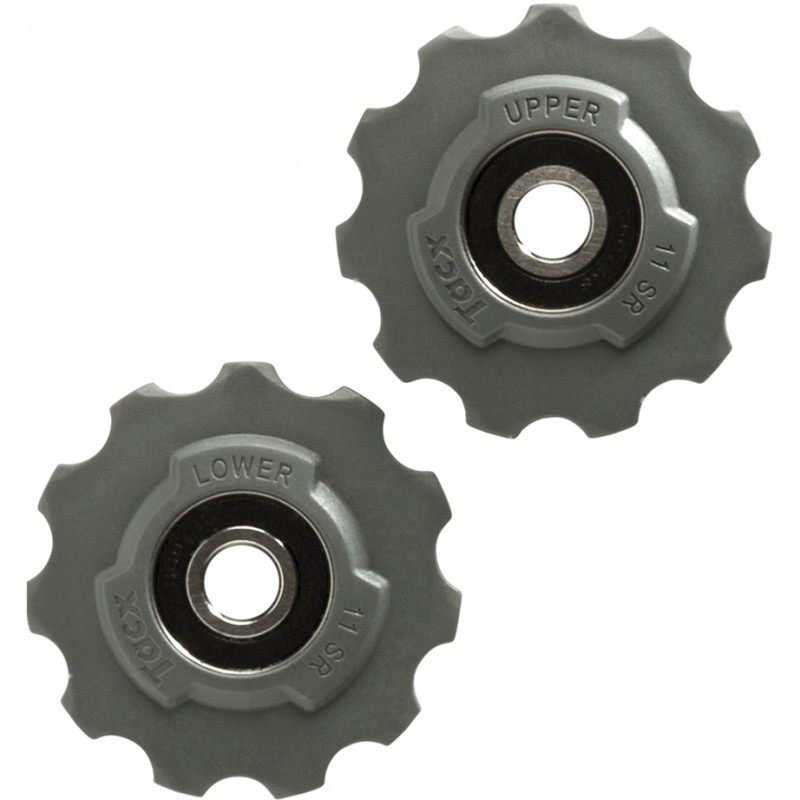 Tacx Jockey Wheels Steel 11 Teeth SRAM Race, Red, Force, Rival