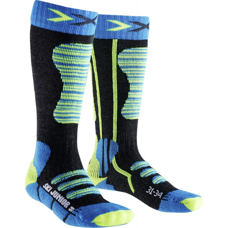 X-Socks Ski Junior Turquoise/Yellow