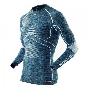 X-Bionic Energy Accumulator Evolution Man Turtle Neck Blue/White/Melange
