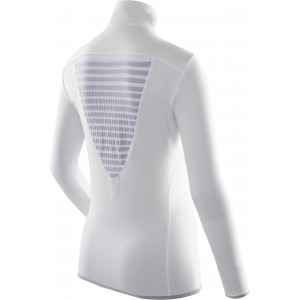 X-Bionic Racoon Ski Woman Shirt Long Sleeves Zip Up White/Grey