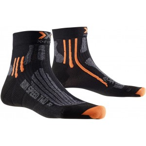 X-Socks Run Speed Two Black/Grey Melange