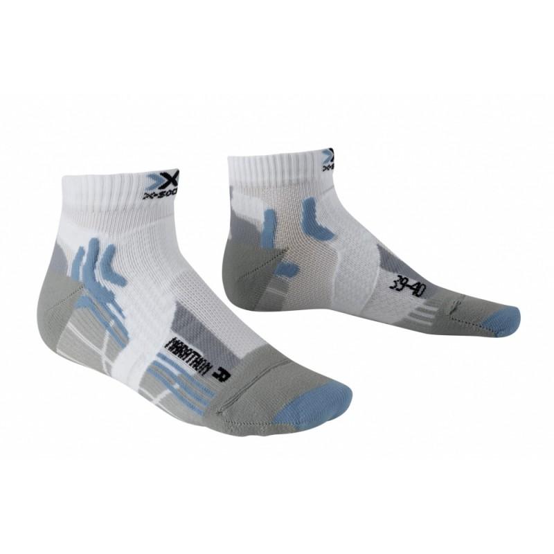 X-Socks Marathon Lady Short White/Sky Blue