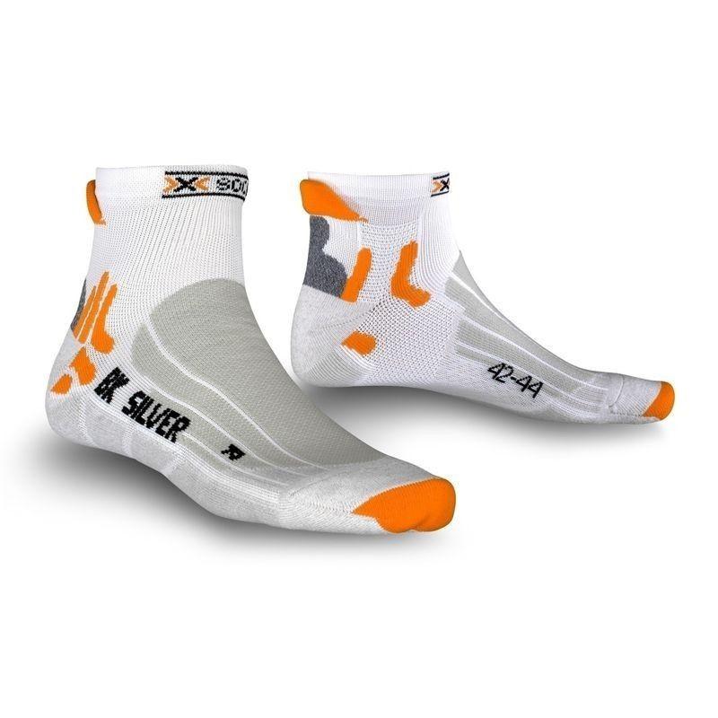 X-Socks Biking Silver Short White/Grey Melange