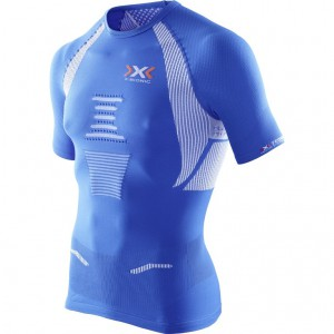 X-Bionic The Trick Running Shirt Man Royal Blue/White