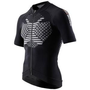 X-Bionic Twyce Biking Shirt Full Zip Short Man Black/White
