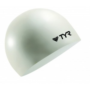 Tyr Wrinkle-Free White Swim Cap