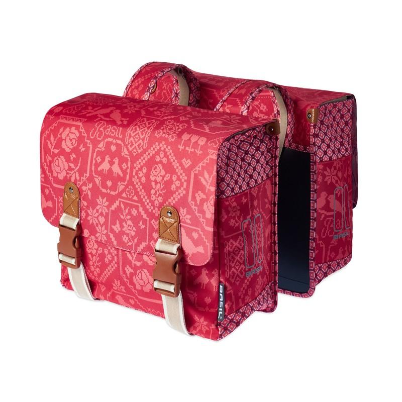 Basil Boheme Double Bag 35l Vintage Red