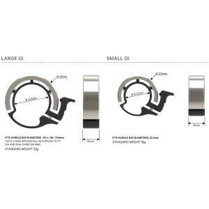 Knog OI Bell Large Silver