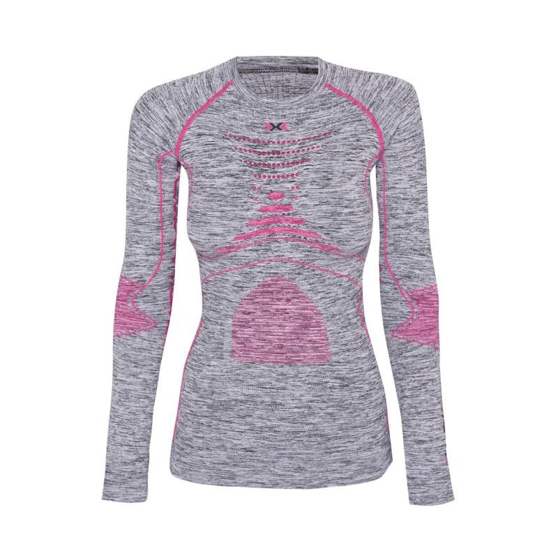X-Bionic Energy Accumulator Evolution Woman Shirt Grey/Pink/Melange
