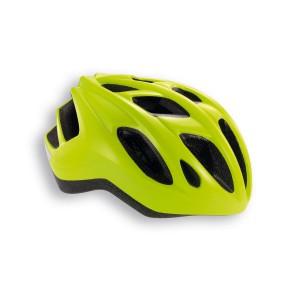 Kask rowerowy Met Espresso jaskrawo żółty błyszczący