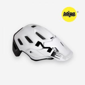 Kask rowerowy Met Roam Mips biało czarny