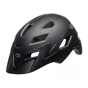 Bell Sidetrack Youth Matte Black Silver Fragments