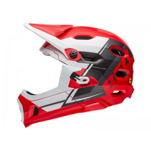 Bell Super Dh Mips Red White Black