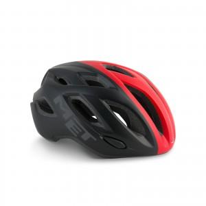 Kask rowerowy Met Idolo czarno czerwony