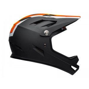 Kask rowerowy Bell Sanction Agility Matte Black Yellow Orange