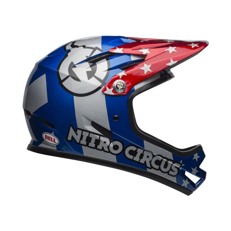 Bell Sanction Nitro Circus Gloss Silver Blue Red