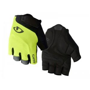 Rękawiczki rowerowe Giro Bravo Gel Black Highlight Yellow