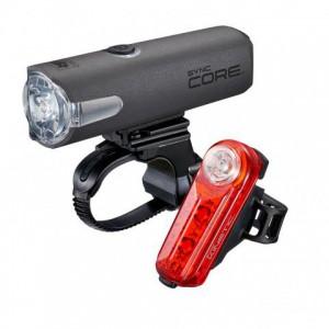Zestaw lampek Cateye HL-NW100RC Sync Core / TL-NW100K Sync Kinetic