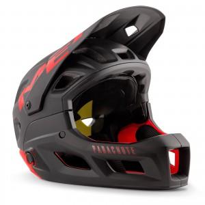 Kask rowerowy Met Parachute MCR Czarno-Czerwony Matowy