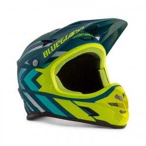 Kask rowerowy Bluegrass Intox Niebiesko Żółty