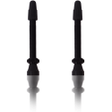 Wentyle do obręczy bezdętkowych Vittoria czarne aluminiowe 2szt. 44mm