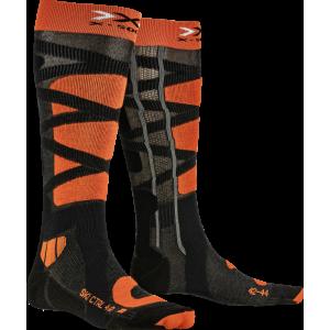 X-Socks Ski Control 4.0 Anthracite Melange/Orange
