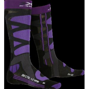 Skarpety X-Socks Ski Control 4.0 Charocal Melange/Purple
