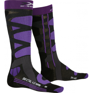 X-Socks Ski Control 4.0 WMN Charocal Melange/Purple